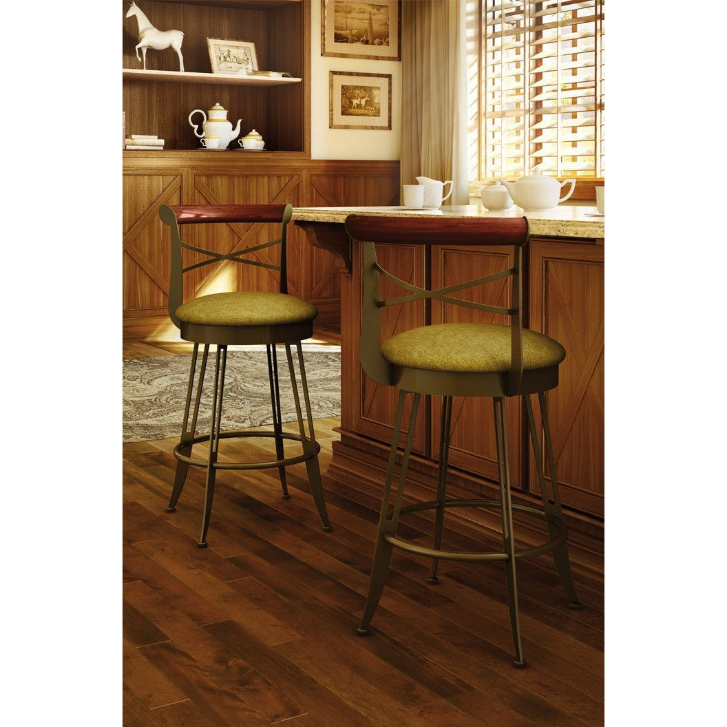 Historian Swivel Stool, Kitchen and Bar Stool, Amisco - Danny Vegh's