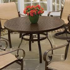 "Deluxe 36"" Square Dining Table with Trellis Top, Outdoor Furniture, Woodard - Danny Vegh's"