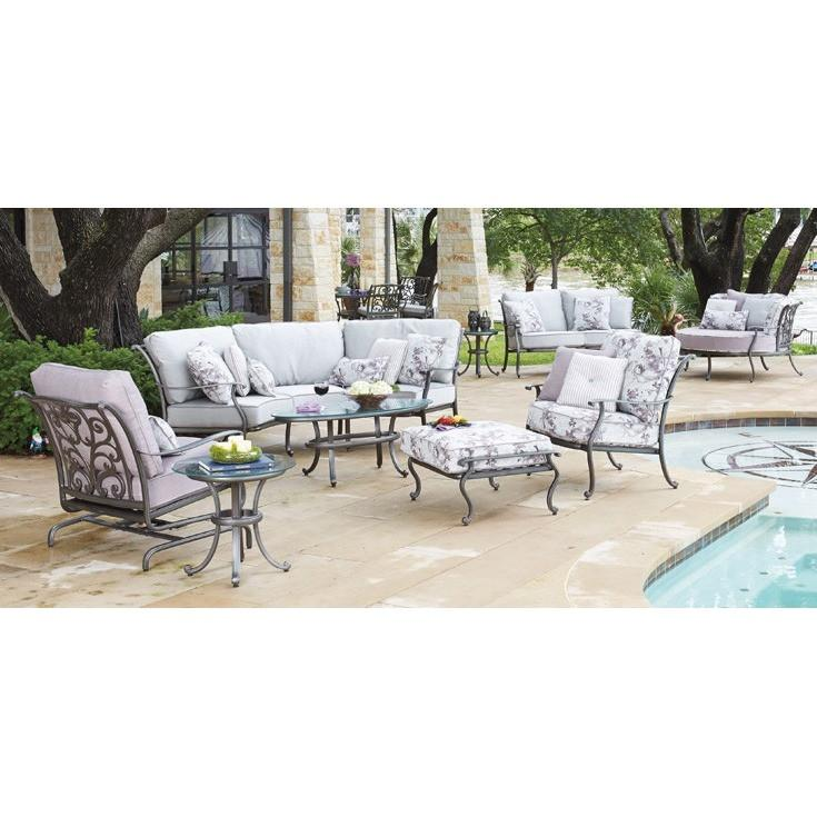 New Orleans Crescent Cuddle Chair, Outdoor Furniture, Woodard - Danny Vegh's