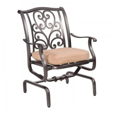 New Orleans Spring Rocking Dining Arm Chair, Outdoor Furniture, Woodard - Danny Vegh's