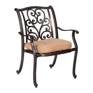 New Orleans Dining Arm Chair, Outdoor Furniture, Woodard - Danny Vegh's