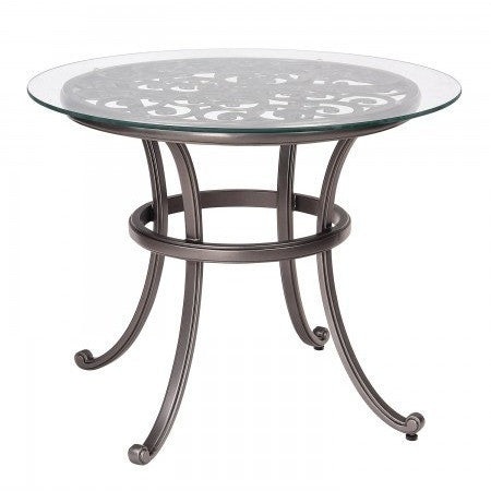 "New Orleans 36"" Round Bistro Table with Glass Top, Outdoor Furniture, Woodard - Danny Vegh's"