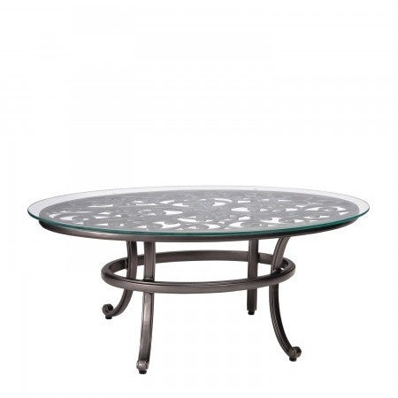 New Orleans Coffee Table With Glass Top, Outdoor Furniture, Woodard   Danny  Veghu0027s