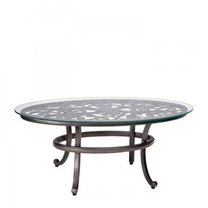 New Orleans Coffee Table with Glass Top, Outdoor Furniture, Woodard - Danny Vegh's