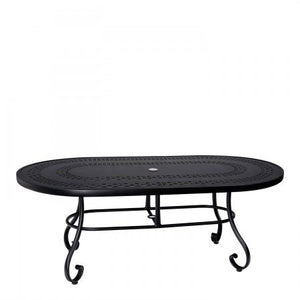 "Ramsgate 42"" x 74"" Oval Dining Table with Trellis Top, Outdoor Furniture, Woodard - Danny Vegh's"