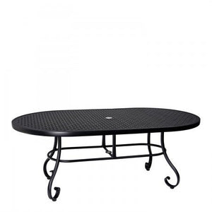 "Ramsgate 42"" x 74"" Oval Table with Lattice Top, Outdoor Furniture, Woodard - Danny Vegh's"