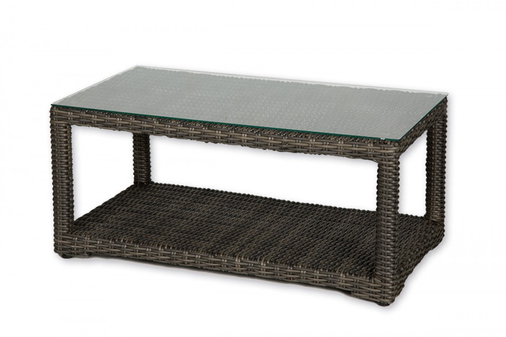 Cabernet Rectangular Woven Cocktail Table