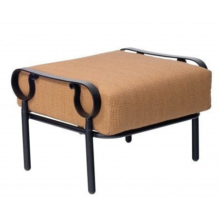 Ridgecrest Cushion Ottoman, Outdoor Furniture, Woodard - Danny Vegh's