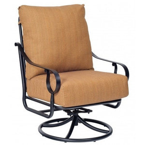 Ridgecrest Cushion Extra Large Swivel Rocker Lounge Chair, Outdoor Furniture, Woodard - Danny Vegh's