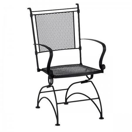 Bradford Coil Spring Dining Chair with Optional Cushion, Outdoor Furniture, Woodard - Danny Vegh's