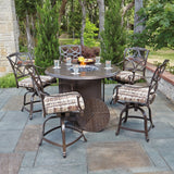 Wiltshire Swivel Counter Stool with Optional Seat Cushion, Outdoor Furniture, Woodard - Danny Vegh's