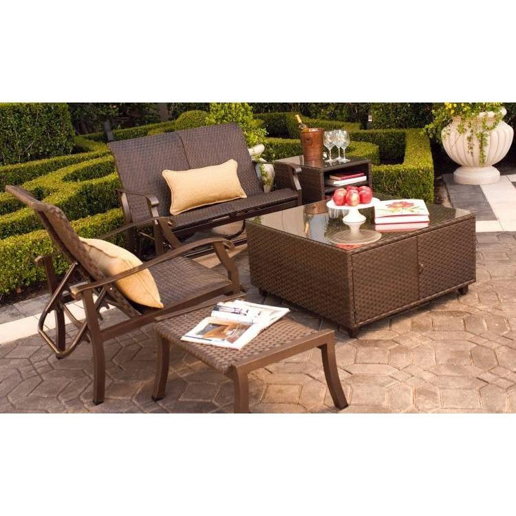 Cortland Woven Swivel Counter Stool, Outdoor Furniture, Woodard - Danny Vegh's