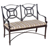 Isla Bench with Optional Seat Cushion, Outdoor Furniture, Woodard - Danny Vegh's
