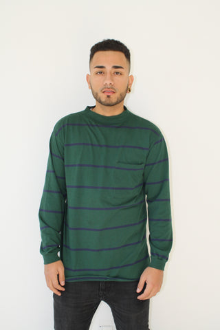 Classic Stripped Long Sleeve T (Men Size L )