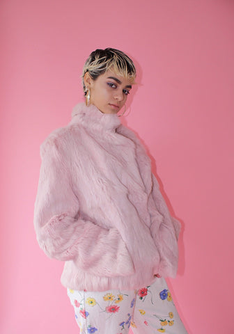 Pink Fur Coat (Women L/XL)