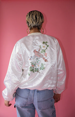 Over-Sized Cardinal Bomber (Unisex L)