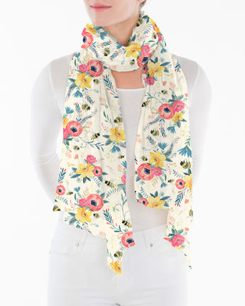 Bumble Bee Floral - Ivory