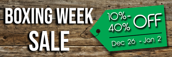 Our Boxing Week SALE starts soon!