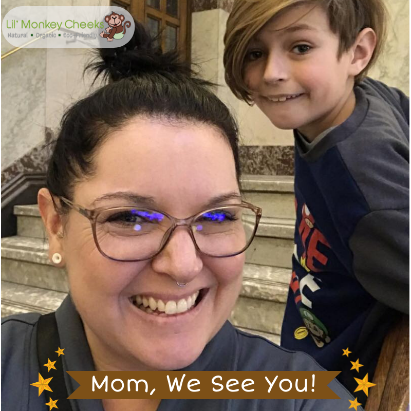 Congratulations to our 'Mom, We See You!' Spring 2020 winner, Amy!
