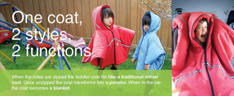 258aae24a Baby Parka Toddler Coat  Poncho – Lil Monkey Cheeks
