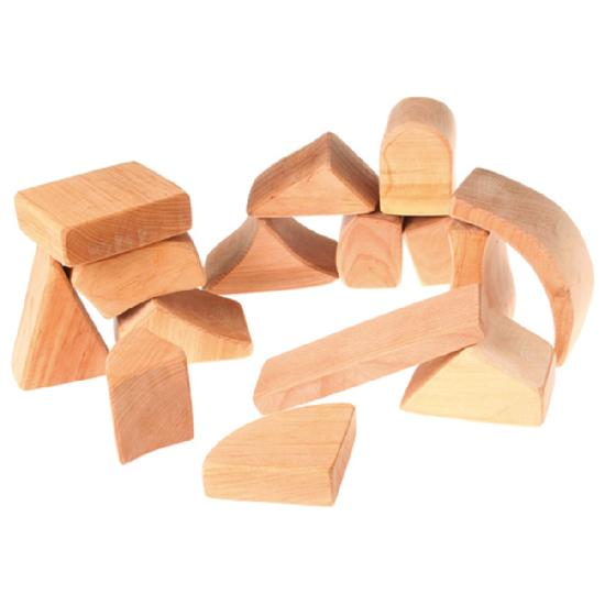 Grimm's Large Natural Classic Building Blocks, 15pcs