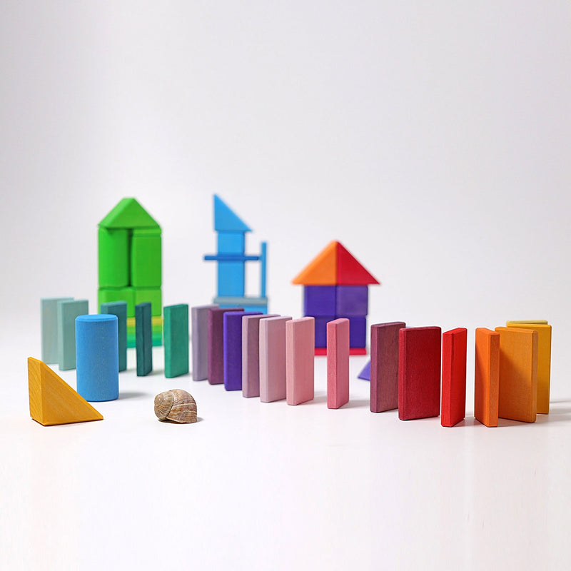 Grimm's Learning - Shapes and Colours 70 pcs. Explore Geometry