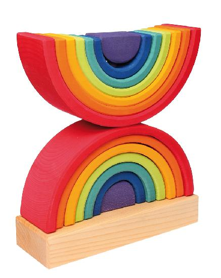 Grimm's Stacking Double Rainbow Tower