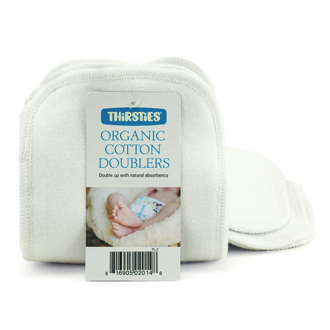 Thirsties Organic Cotton Doublers, 3 pack