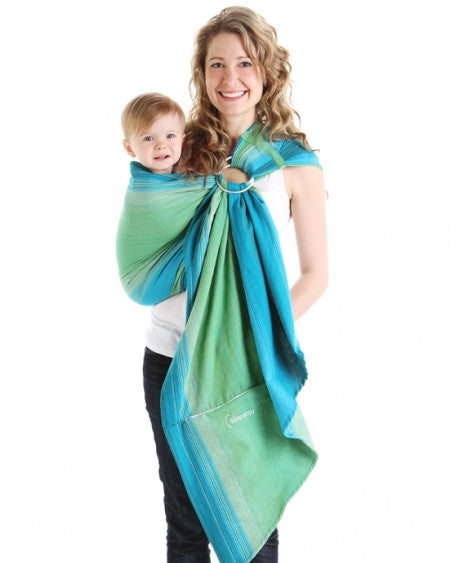 Chimparoo Ring Sling Pleated Shoulder Lil Monkey Cheeks