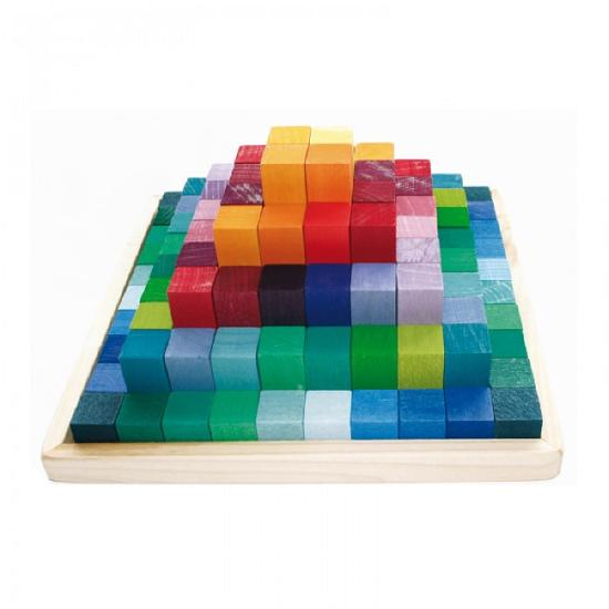 Grimm's Learning Stepped Pyramid 4x4cm Building Set