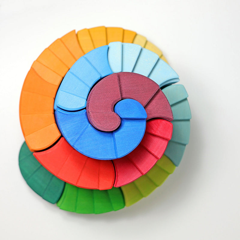 Grimm's Counter Rotating Stepped Spiral, Rainbow