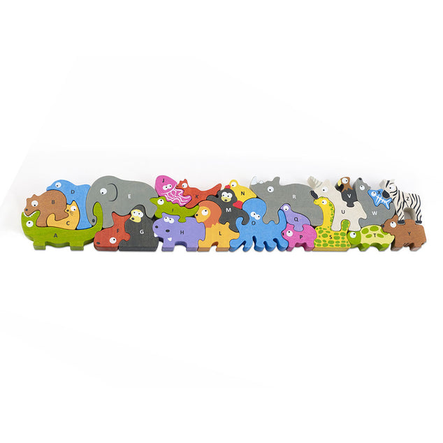 Begin Again Jumbo Animal Parade A to Z Puzzle & Playset