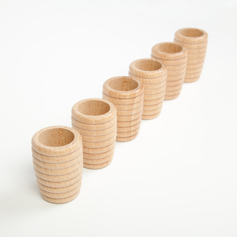 Grapat Natural Honeycomb Beakers, 6 pieces