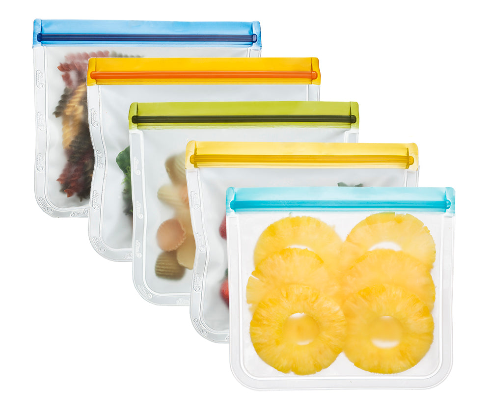 (re)zip Leakproof Reusable Lunch Storage Bags (5-Pack)