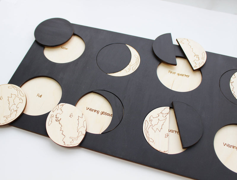 Moon Phase Wooden Puzzle