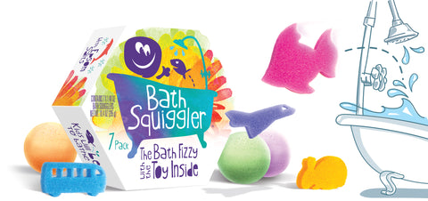 Bath Squiggler Gift Pack, 7 pcs