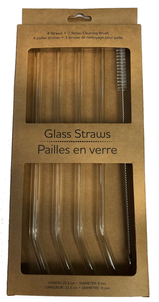 Life Without Waste Glass Straws (4 straws + brush)