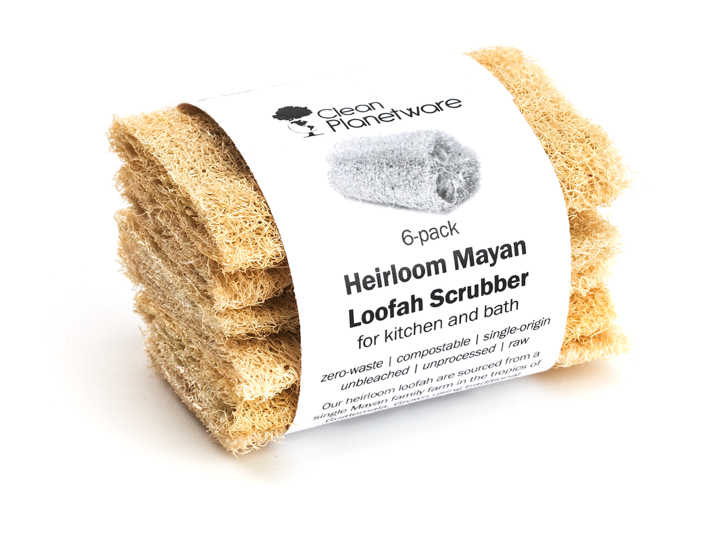 Heirloom Mayan Compostable Loofah Scubbers (6-pack)