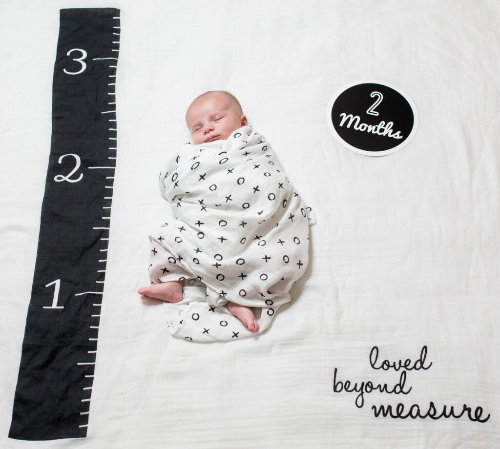 Lulujo Baby's First Year Blanket & Card Sets