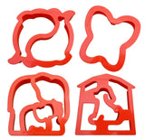 Lunch Punch Sandwich Cutters, 4 pack