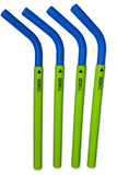 GreenPaxx Silicone 2-piece Reusable Straws (4-pack)