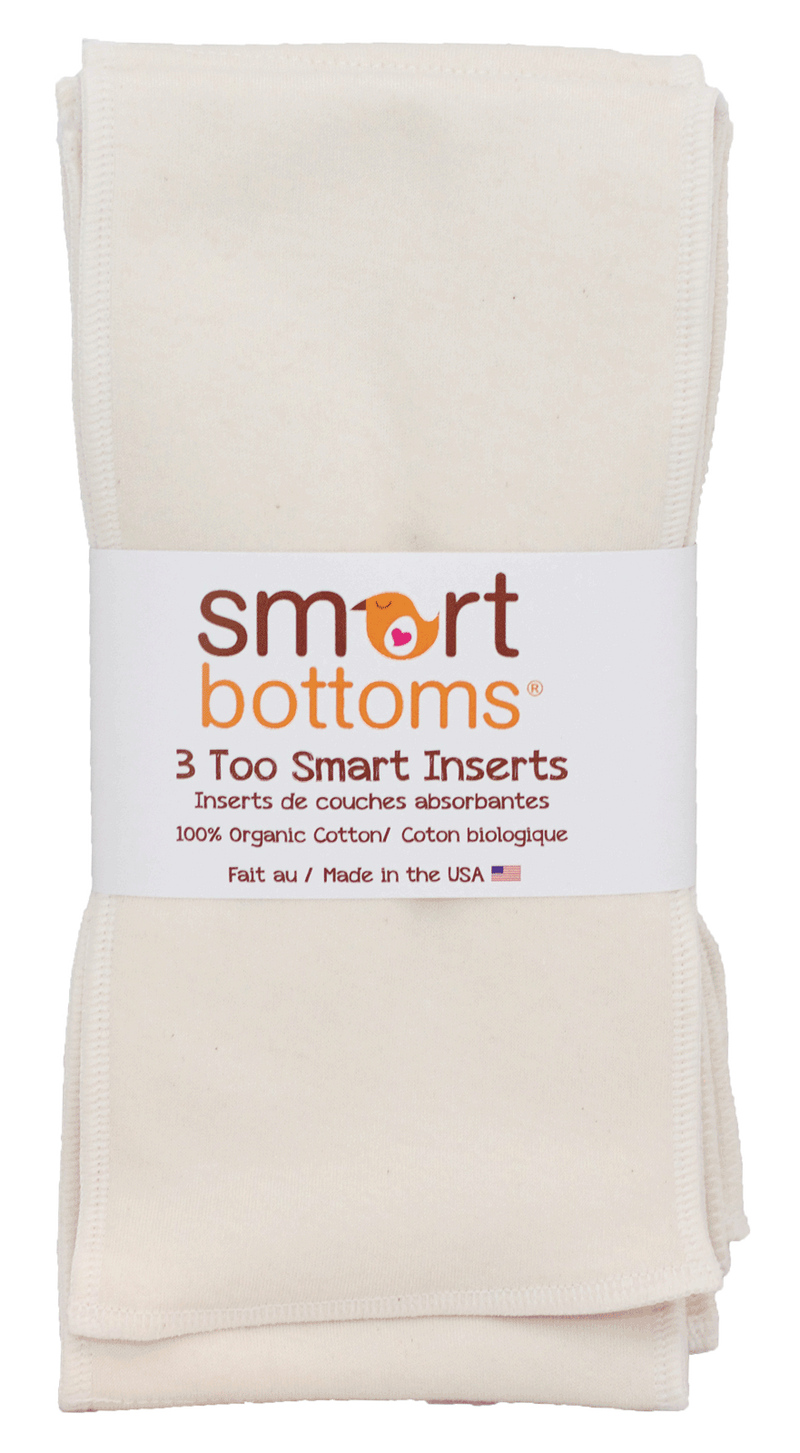 Smart Bottoms Too Smart Organic Cotton Inserts, 3 pack