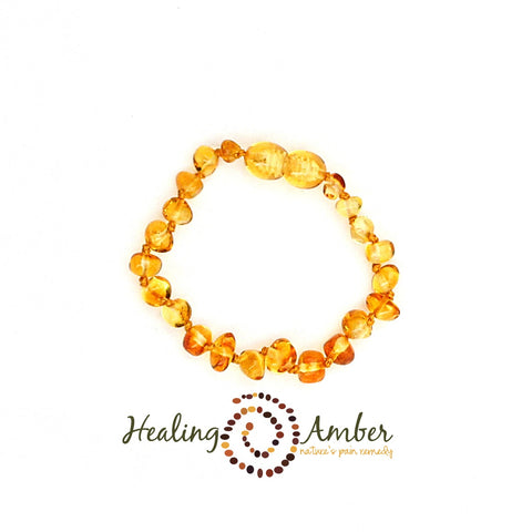 Healing Amber Anklet
