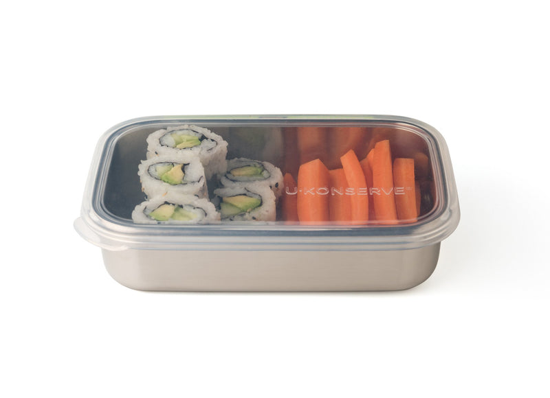U Konserve Rectangular Container with Silicone Lid, 25 oz