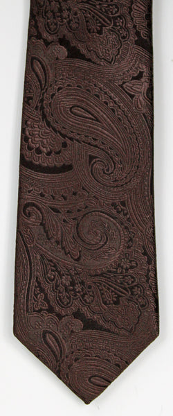 SERICA SILK BROWN PAISLEY TIE