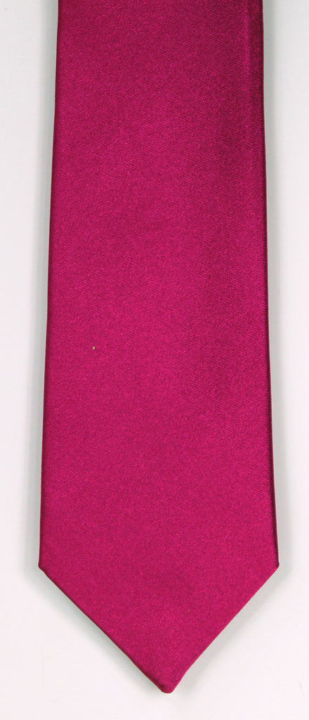 SERICA SILK MID RED TIE
