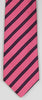 SERICA SILK PINK/BLACK STRIPE TIE