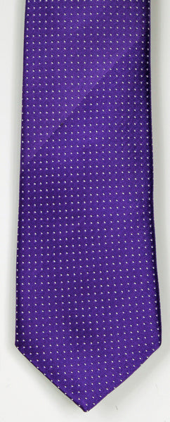 SERICA SILK PURPLE POLKA DOT TIE