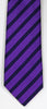 SERICA SILK PURPLE/BLACK STRIPE TIE