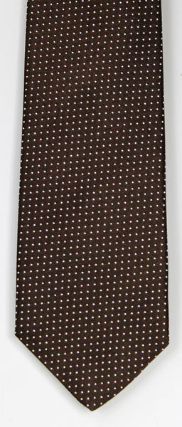 SERICA SILK BROWN POLKA DOT TIE